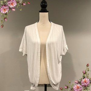 MAKE AN OFFER ;) Open white cardigan